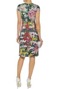 Issa Knit Jersey Floral Dress back