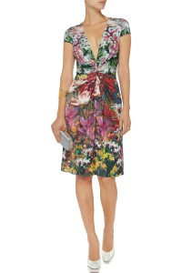 Issa Knit Jersey Floral Dress