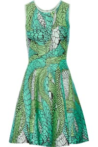 Issa web pattern dress green