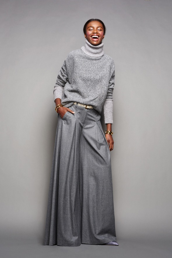 J Crew Sweater and Wide Leg Pants