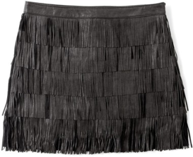 michael-by-michael-kors-black-fringe-leather-skirt-