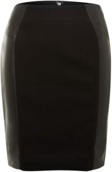 michael-by-michael-kors-black-leather-panel-pencil-skirt-