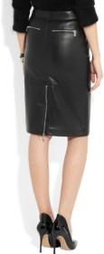 Michael Kors black Zippered Pencil Skirt