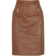 Michael Kors Brown Pencil Skirt