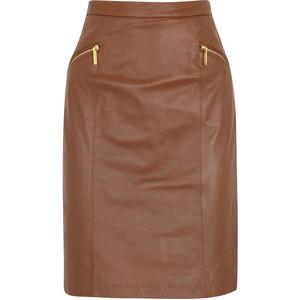 Michael Kors Brown Pencil Skirt