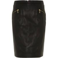 michael kors-leather pencil skirt