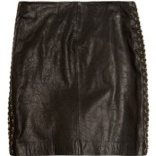 MICHAEL Michael Kors Chain Leather A Line skirt