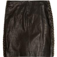 MICHAEL Michael Kors Chain Leather A Line skirt