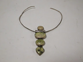 Sterling Silver and Stone Choker