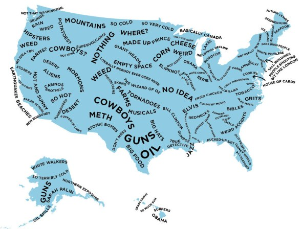 US Map made by British