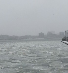 Ice Floes on the Hudson