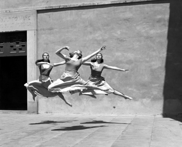 Leaping Ballet Dancers at Mills College