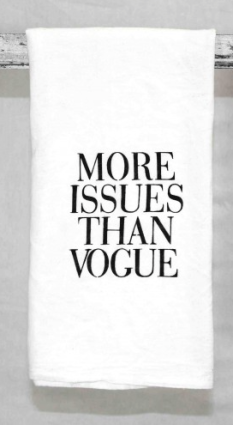 More Issues Than Vogue Hand Towels