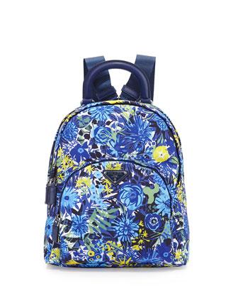 Prada Tessuda Pressaro Floral Backpack $950