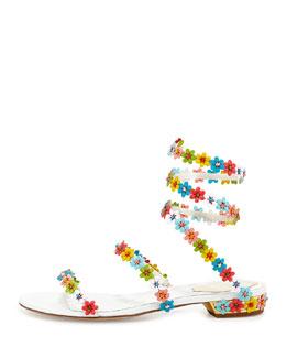 Rene Caovilla Floral Sandal