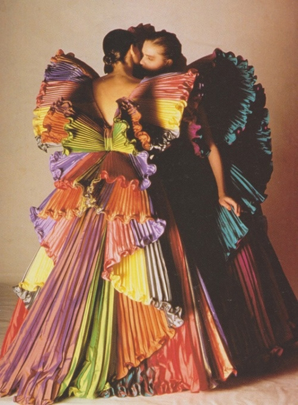 Roberto Capucci The Butterfly Dress, 1985 photographed by Fiorenzo Nicolli