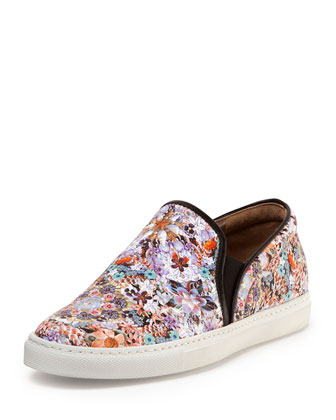 Tabitha Simmons Floral Print Leather Slip-On $595