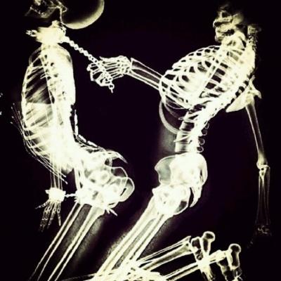 BDSM skeletons collar