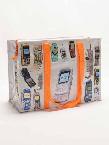 BlueQ Cell Phones Shoulder Tote