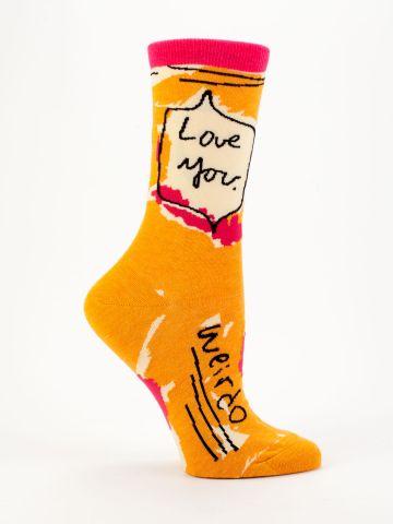 BlueQ socks Love You Weirdo