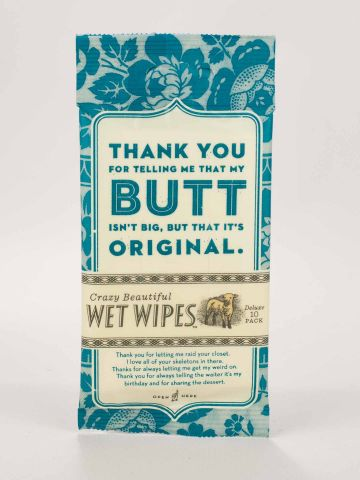 BlueQ Thank You For Telling Me My Butt Is Not Big wipes