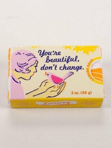 BlueQ You're Beautiful Don't Change Soap