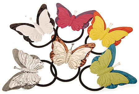 Butterfly Leather Hair Ties L. Erickson