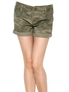 Camo Cargo Drawstring Shorts