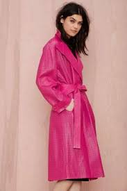 Gianni Versace Pink It Through Vintage Leather Trench Coat