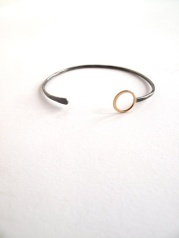 MJM silver/14K cuff