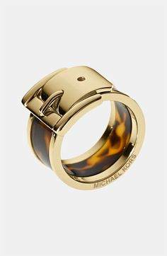 Michael Kors Barrel Buckle Ring