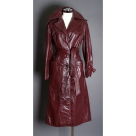 Vintage 1970's Etienne Aigner Leather Overcoat trench coat.