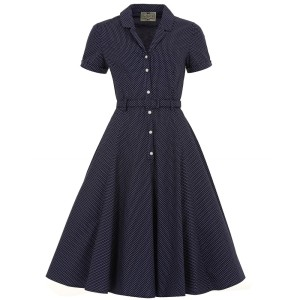 collectif_caterina_polkadot_dress_navy_front 40's swing dress