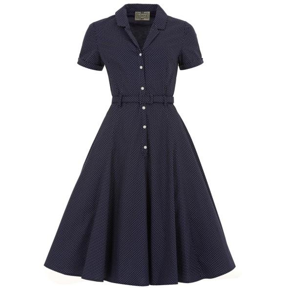 collectif_caterina_polkadot_dress_navy_front 40's swing dress