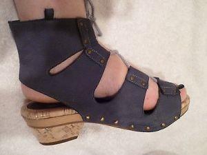 Derek Lam Lace Up Sandals Grey