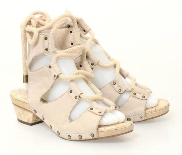 Derrick Lam Lace Up Sandals
