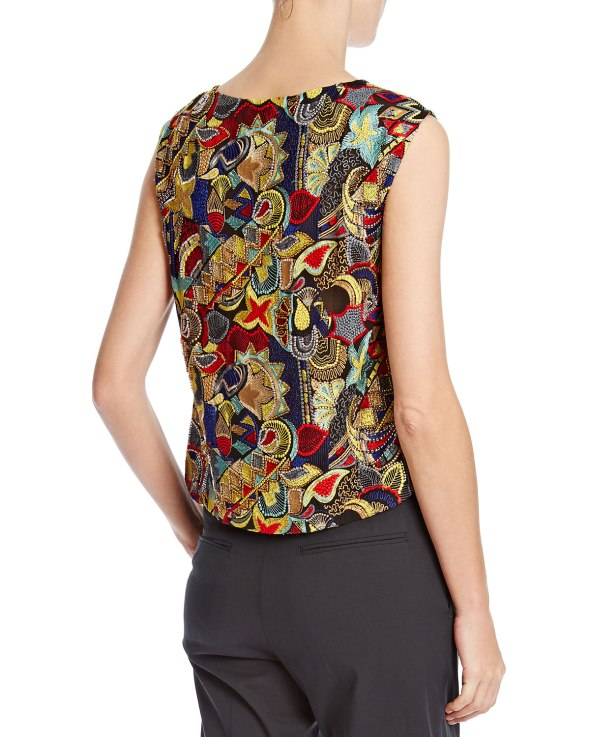 Dries Van Noten Bead-Embellished Silk Top BG Back