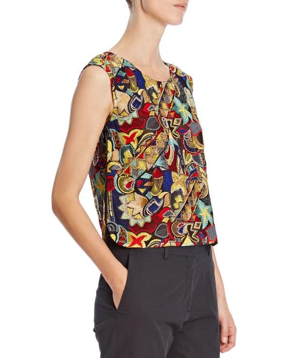 Dries Van Noten Bead-Embellished Silk Top BG