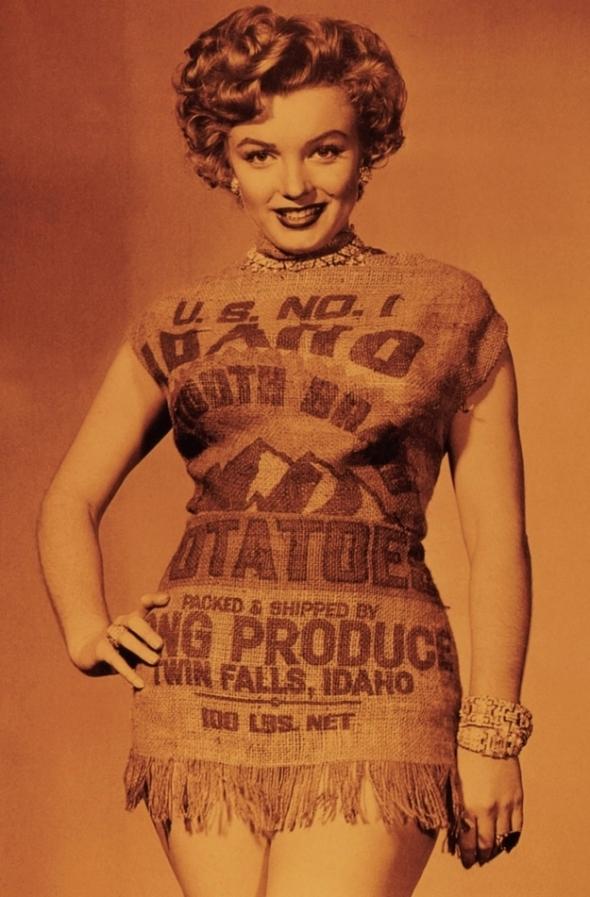 Marilyn Monroe Potato Sack