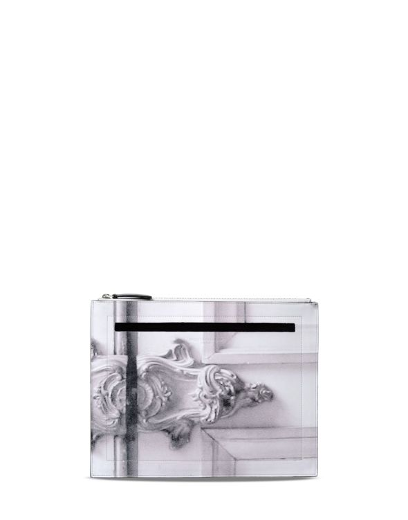 Martin Margiela Leather clutch in trompe l'œil print