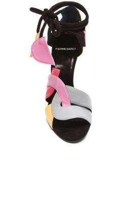 Pierre Hardy Atelier Tri Color Heels top