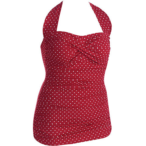 Retro Swim Red polka dot one piece