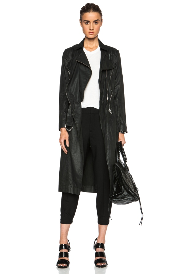 Trench Helmut Lang Distressed Resin