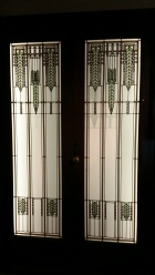 Frank Lloyd Wright Stained Glass doors