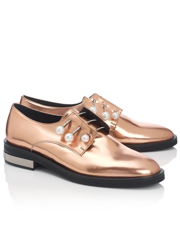 Copper Leather Derby Fernanda Shoes Coliac