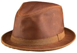 Copper Leather Fedora by Head'n Home