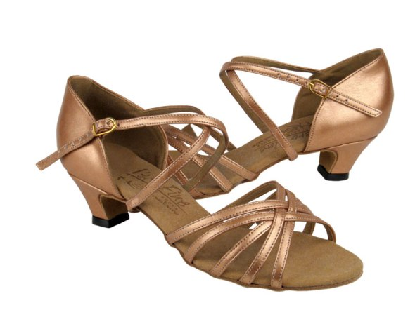 Copper Nude Leather 1.2 in cuban heel dance shoe