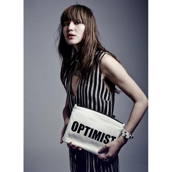 Hayden Harnett Optimist Pessimist Bardot Clutch 3