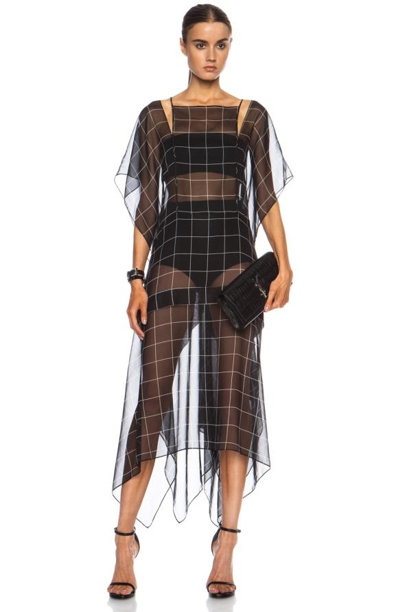 Josh Goot Strapless Bra and High Waisted Panties with dress