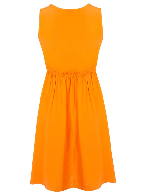 Miss Selfrdges Orange Tie Front Dress back